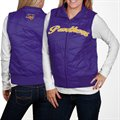 Northern Iowa Panthers Ladies Purple Full Zip Bubble Vest