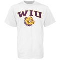 Western Illinois Leathernecks White Bare Essentials T-shirt