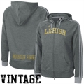 adidas Lehigh Mountain Hawks Ladies Charcoal College Town Full Zip Vintage Hoody Sweatshirt