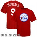 Majestic Philadelphia 76ers #9 Andre Iguodala Red Player Big Sizes T-shirt