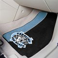 North Carolina Tar Heels (UNC) 2-Pack Navy Blue-Carolina Blue Carpet Car Mats
