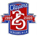 Los Angeles Clippers Embroidered 25th Anniversary Collectible Patch