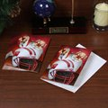 Wisconsin Badgers 12-Pack Single Santa Painting Design Christmas Cards