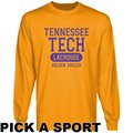 Tennessee Tech Golden Eagles Gold Custom Sport Long Sleeve T-shirt -