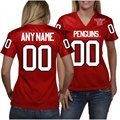 Youngstown State Penguins Women's Personalized Fashion Football Jersey - Red