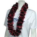 Burgundy & Black Lei