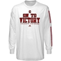 adidas Colgate Raiders White Victory Song Long Sleeve T-shirt
