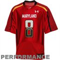 Under Armour Maryland Terrapins #8 Replica Football Jersey - Red