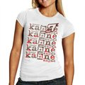 Chase Authentics #9 Kasey Kahne Ladies White Repeat Names T-shirt