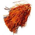 Orange Metallic Rooter Pom