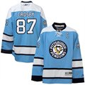 Reebok Pittsburgh Penguins #87 Sidney Crosby Light Blue Premier Hockey Jersey