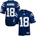 Reebok NFL Equipment Indianapolis Colts #18 Peyton Manning Royal Blue Replica Football Jersey