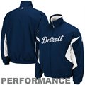 Majestic Detroit Tigers Navy Blue Therma Base Triple Peak Premier Full Zip Jacket