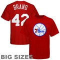 Majestic Philadelphia 76ers #42 Elton Brand Red Player Big Sizes T-shirt