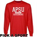 Austin Peay State Governors Custom Sport Long Sleeve T-shirt - Red