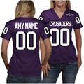 Holy Cross Crusaders Women's Personalized Fashion Football Jersey - Purple