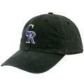 Twins Enterprise Colorado Rockies Black Franchise Fitted Hat