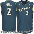 adidas John Wall Washington Wizards Revolution 30 Performance Jersey - Slate Blue