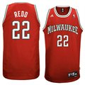 adidas Milwaukee Bucks #22 Michael Redd  Red Swingman Basketball Jersey