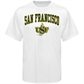 San Francisco Dons Youth White Bare Essentials T-shirt
