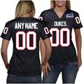 Duquesne Dukes Women's Personalized Fashion Football Jersey - Navy Blue