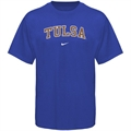 Nike Tulsa Golden Hurricane Royal Blue Vertical Arch T-shirt