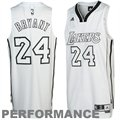 adidas Kobe Bryant Los Angeles Lakers Whiteout Revolution 30 Swingman Performance Jersey - White