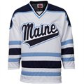 Maine Black Bears White Tackle Twill College Hockey Jersey
