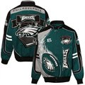 Philadelphia Eagles Green-Black-Silver Red Zone Cotton Twill Full Button Jacket