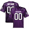 Holy Cross Crusaders Personalized Fashion Football Jersey - Purple