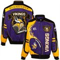 Minnesota Vikings Purple-Gold-Black Red Zone Cotton Twill Full Button Jacket