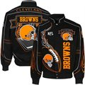 Cleveland Browns Black On Fire Cotton Twill Full Button Jacket
