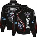 Tennessee Titans Black On Fire Full-Button Twill Jacket
