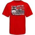 Northeastern Huskies Red All About Red & Black T-shirt