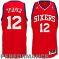 adidas Evan Turner Philadelphia 76ers 30 Swingman Performance Jersey-Red
