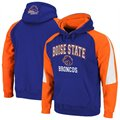 Boise State Broncos Royal Blue-Orange Playmaker Pullover Hoodie Sweatshirt