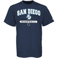 Russell San Diego Toreros Navy Blue Baseball T-shirt