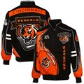Cincinnati Bengals Orange-Black Red Zone Cotton Twill Full Button Jacket