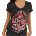 Toronto Raptors Missy Tri-Blend V-Neck Premium T-Shirt - Black