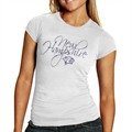 New Hampshire Wildcats Ladies White Script and Logo T-shirt