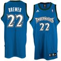 adidas Minnesota Timberwolves #22 Corey Brewer Blue Swingman Basketball Jersey