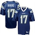 Reebok NFL Equipment San Diego Chargers #17 Philip Rivers Navy Replica Football Jersey
