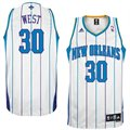 adidas New Orleans Hornets #30 David West White Swingman Basketball Jersey