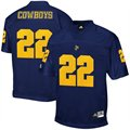 adidas McNeese State Cowboys #22 Royal Blue Replica Football Jersey