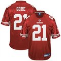 Reebok NFL Equipment San Francisco 49ers #21 Frank Gore Cardinal Red Replica Football Jersey