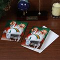 Miami Hurricanes 12-Pack Single Santa Painting Design Christmas Cards