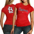 Nike St. Louis Cardinals Ladies Red Local T-shirt