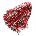 Silver-Red Metallic Rooter Pom