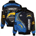San Diego Chargers Black-Electric Blue Red Zone Cotton Twill Full Button Jacket