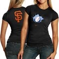 Nike San Francisco Giants Ladies Black Local T-shirt